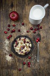 Muesli with puffed quinoa, wholemeal oatmeal, raisins, dried cranberries and apple - LVF05354