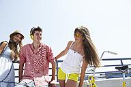 Three happy teenage friends outdoors - FSF00523