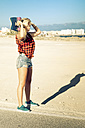 Spain, Tenerife, blond young skater - SIPF00893
