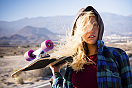 Spain, Tenerife, blond young skater - SIPF00902