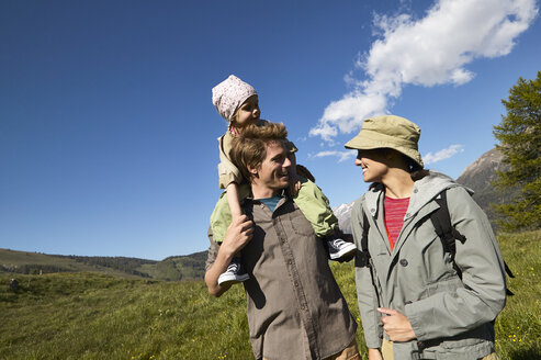 Happy family on a hiking trip - FSF00559