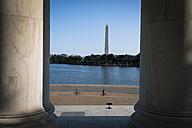 USA, Washington, D.C., Washington Monument as seen from Jefferson Memorial - STC00244