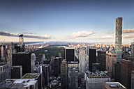 USA, New York City, skyline with Central Park at sunset - STC00265