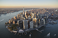 USA, New York, Aerial photograph of New York City and Manhattan Island - BCDF00170
