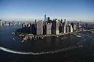 USA, New York, Aerial photograph of New York City and Manhattan Island - BCDF00173