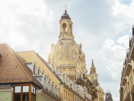 Germany, Dresden, dome of Dresden Frauenkirche - KRPF01852