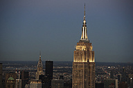 USA, New York State, New York City, Cityscape with Empire State building in the morning - BCDF00199