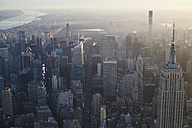 USA, New York State, New York City, Cityscape with Empire State building in the morning - BCD00202