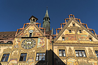 Germany, Ulm, view to city hall with Astronomical clock - PCF00279