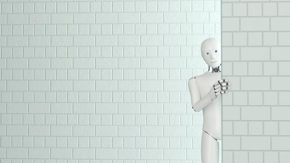 Peeking robot, 3D Rendering - AHUF00256