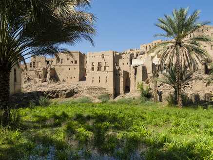 Oman, Birkat Al-Mawz, view to the village - AMF05027