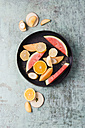 Plate with different fresh fruits - MYF01808