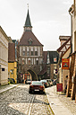 Germany, Mecklenburg-Western Pomerania, Stralsund, Old town, city gate - TAM00676