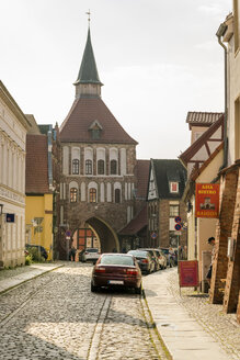 Germany, Mecklenburg-Western Pomerania, Stralsund, Old town, city gate - TAM00676