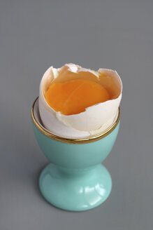 Raw egg in an eggcup - HSTF00041
