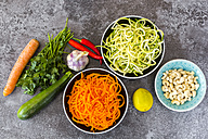 Ingredients of vegetable noodle salad - SARF03010