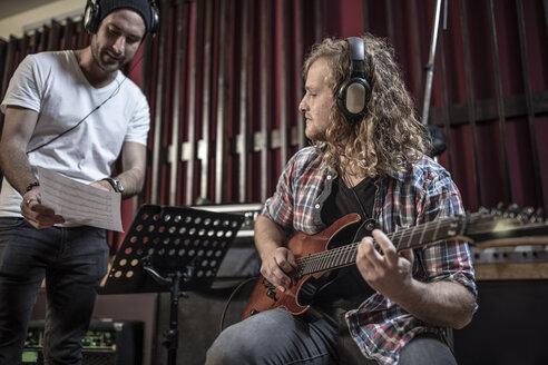 Musicians in recording studio - ZEF10746