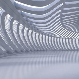 Empty hall in a modern building, 3D Rendering - UWF01039