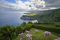 Portugal, Azores, Sao Miguel, Cape Ponta Formosa in the morning - RJF00633