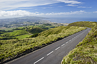 Portugal, Azores, Sao Miguel, Empty road at the West side - RJF00642