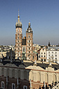 Poland, Krakow, view to St. Mary's Church - MELF00158