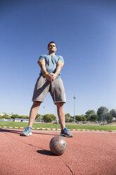 Athlete preparing for hammer throw - ABZF01405