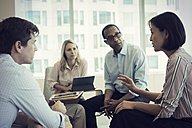 Business people in meeting having interesting discussion - WESTF21769