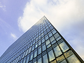 Germany, Duesseldorf, part of glass facade of modern office building - KRPF01898