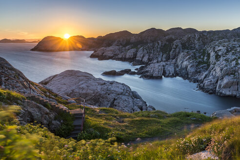 Norway, Vest-Agder, sunset at Cape Lindesnes - STSF01126