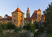 Germany, Weissenburg, view to Heathen Tower and St. Andrew - SIEF07132