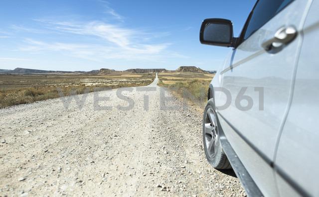 Spain, Logrono, long road and car - DEGF00939