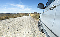 Spain, Logrono, long road and car - DEGF00939