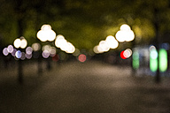 Unfocused street with lights by night - ABZF01449