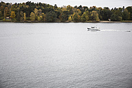 Sweden, motorboat on Baltic Sea - ABZF01452