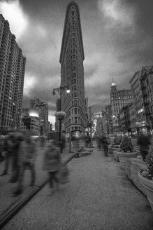 USA, New York City, Manhattan, Flatiron Building in the evening - ZEF11092