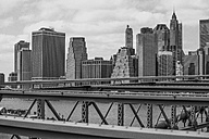 USA, New York City, view from Brooklyn Bridge to Manhattan - ZEF11095