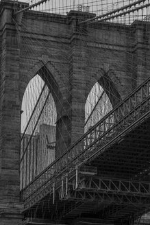 USA, New York City, part of Brooklyn Bridge - ZEF11098