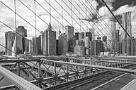 USA, New York City, view from Brooklyn Bridge to Manhattan - ZEF11107