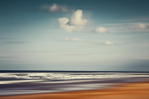 France, Contis-Plage, abstract beach landscape - DWIF00806