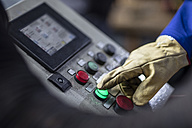 Hand operating control panel in factory - ZEF11148