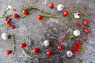 Ingredients of tomato sauce on stone - SARF03036