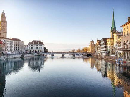 Switzerland, Zurich, Town hall bridge at Limmat river - BMAF00274