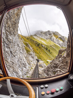 Switzerland, View from driver's cab of cog railwy - LA01795