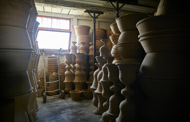 Pots and vases in warehouse of a pottery - DIKF00235