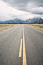 USA, Wyoming, empty country road at Grand Teton National Park - EPF00181