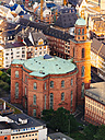 Germany, Frankfurt, view to St Paul's Church from above - KRPF02000