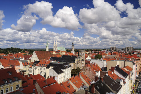 Germany, Saxony, Goerlitz, View over the rooftops of the old town - BTF00420