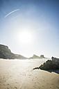 Portugal, Alentejo, Rocks at Zambujeira do Mar beach - CHPF00322