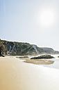 Portugal, Alentejo, Rocks at Zambujeira do Mar beach - CHPF00334