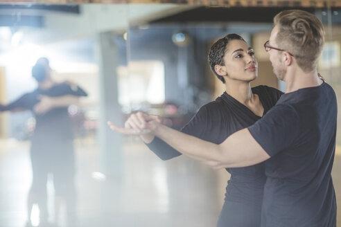 Dance couple in studio - ZEF11710